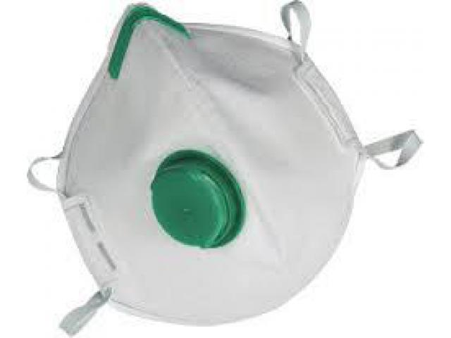 FACE MASKFS FFP3 R D P3 RESPIRATOR  WITH VALVE (BOX OF 5)