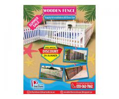 Tall Height Wooden Fencing | Long Area Wooden Fence | White Picket Fence Uae.