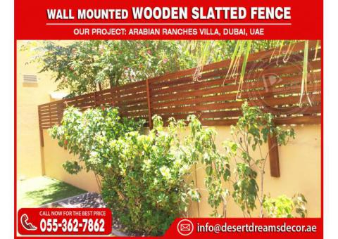 Supply and Install Wooden Slatted Fences in UAE | Best Quality Wood and Most Affordable Price.