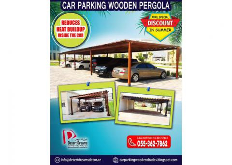 Car Parking Wooden Structure in Uae | Large and Small Parking Area Pergola.