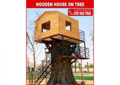 Wooden House on Tree in Uae | Wooden House Manufacturer in Uae.