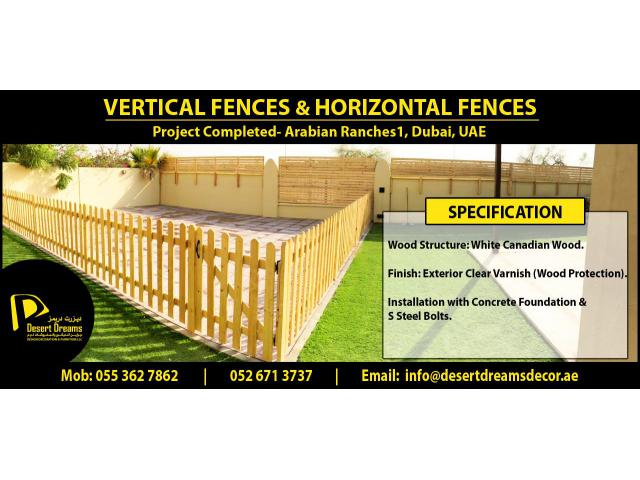Long Area Wood Fence Suppliers in Uae | Tall Wooden Fence | Garden Fencing Work Uae.