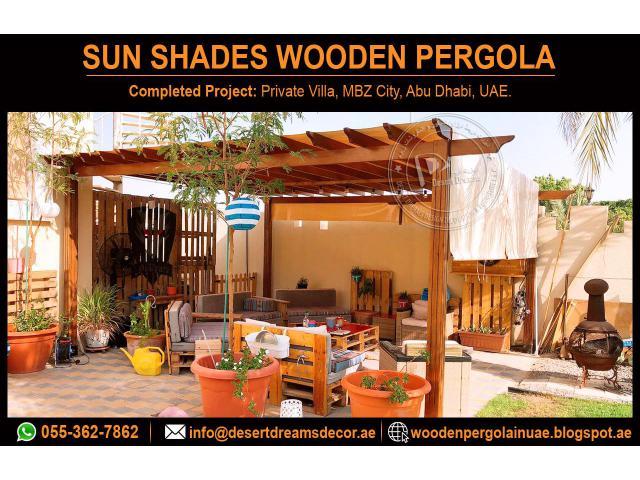 Sun Shades Wooden Pergola Dubai | Wooden Pergola Abu Dhabi | Pergola Al Ain.