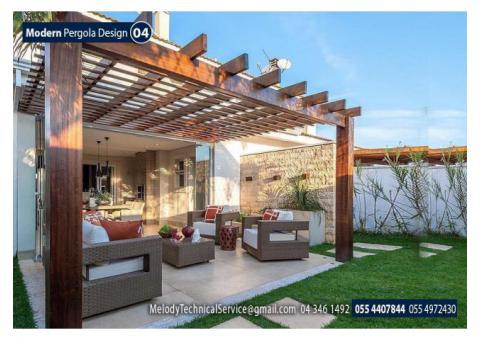 Pergola in Abu Dhabi | Wooden Pergola in Abu Dhabi | Garden Pergola UAE