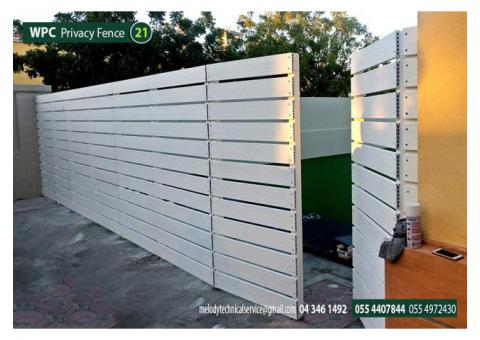 Composite Wood Fence in Abu Dhabi | Picket Fence Abu Dhabi | WPC Fence UAE