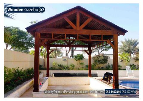 Garden Gazebo in Abu Dhabi | Wooden Gazebo Suppliers in Abu Dhabi