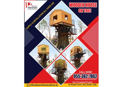 Wooden House Manufacturer in Uae | Wooden House on Tree | UAE.
