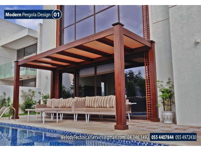 Wooden Pergola In Dubai | Wooden Pergola Abu Dhabi | Wooden Pergola Al in
