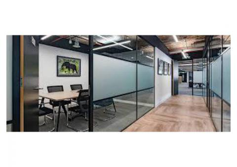 Dismantling office glass partition/ Gypsum partition fit out
