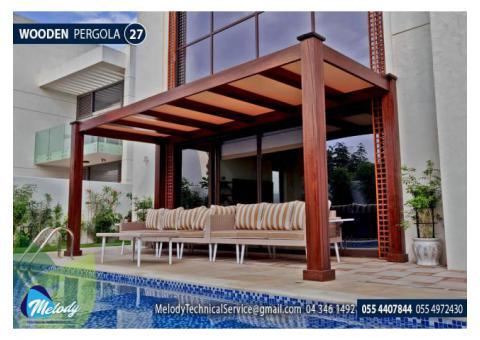 Pergola in Abu Dhabi   Wooden Pergola   Pergola Manufacturer UAE
