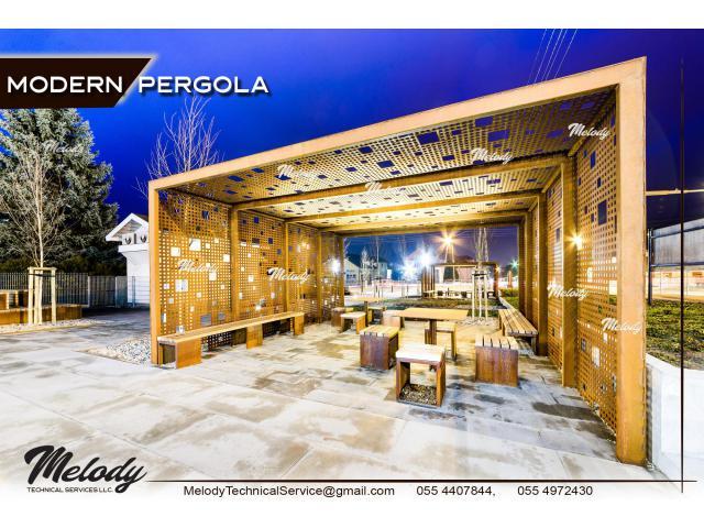 Modern Pergola In Dubai   Creative Wooden Pergola   Pergola Suppliers UAE