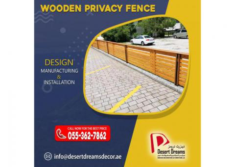 Wooden Slatted Panels for Privacy | Horizontal Fences in Uae.