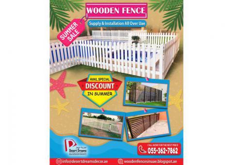 Kids Play Area Fences in Uae | Nursery Wooden Fences | Long Area Wooden Fences Uae.