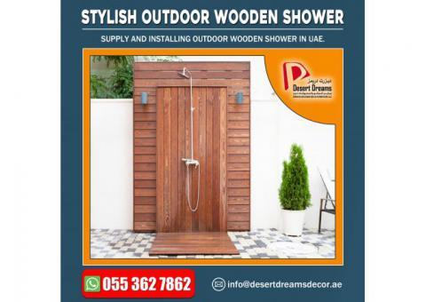 Outdoor Wooden Shower Manufacturer in UAE.