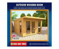 Outdoor Wooden Rooms Manufacturer in Uae | Outdoor Wooden Shower.