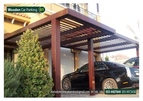 Car Parking Wooden Shade In Dubai | Car Parking Pergola in Dubai