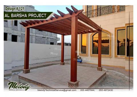 Pergola For Swimming Pool | Wooden Pergola | Pergola Suppliers in Dubai