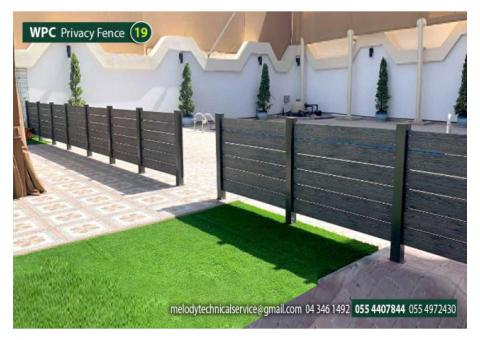 Swimming Pool Wooden Fence | Kids Privacy Fence | WPC fence in Dubai
