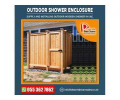 Outdoor Wooden Shower in Uae | Outdoor Wooden Room Manufacturer.