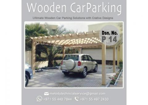 Wooden Car Parking | Car Parking Pergola Suppliers | Car Parking Shade in Abu Dhabi |