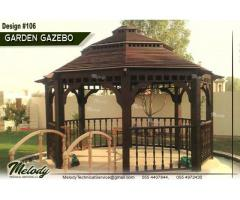 Wooden Roof Gazebo | Gazebo Suppliers in Abu Dhabi | Garden Gazebo UAE