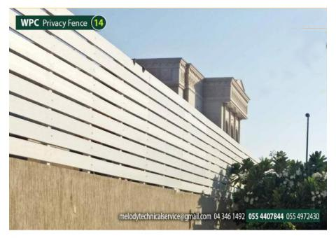 WPC Fence |Privacy Fence in Khalifa City | Composite wood Fence Suppliers in UAE