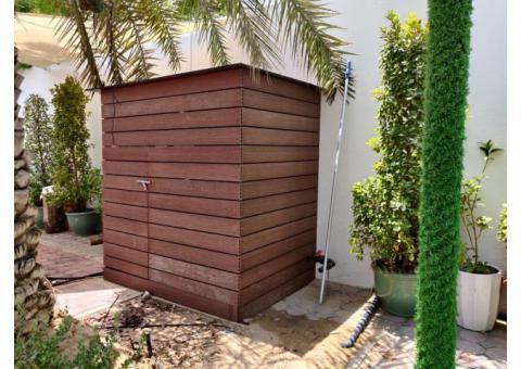 WPC Outdoor Store Room | WPC Store Room in Garden | WPC Shower Room