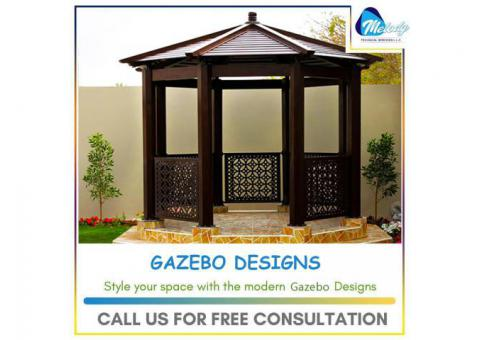 Gazebo At Swimming Pool | Gazebo Suppliers In UAE | Wooden gazebo in Abu Dhabi