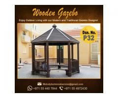 Wooden Gazebo in Khalifa City | Octagonal Gazebo | Claystone Gazebo | Gazebo Suppliers over all UAE