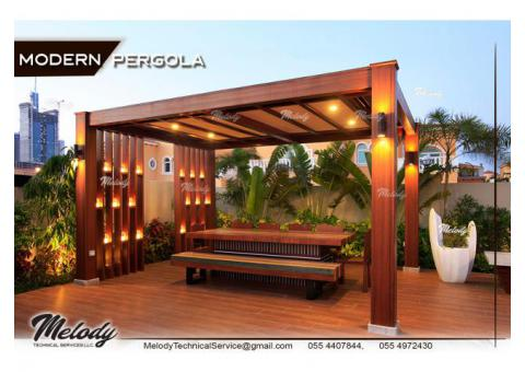 Wooden Pergola In Abu Dhabi | Pergola Suppliers | Pergola in Khalifa City