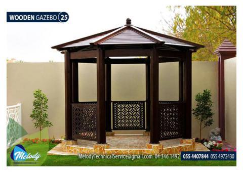 Wooden Gazebo In Abu Dhabi | Octagonal Gazebo | Gazebo Suppliers in UAE