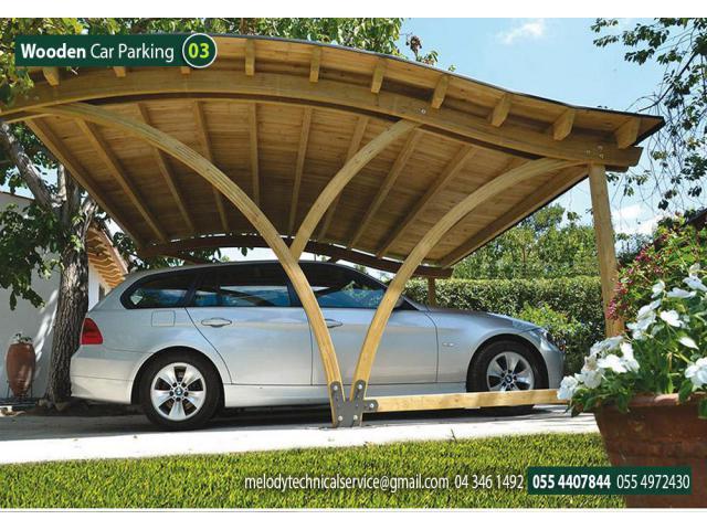 Car parking Wooden Shades Abu Dhabi | Car Parking Pergola | WPC Carport Abu Dhabi