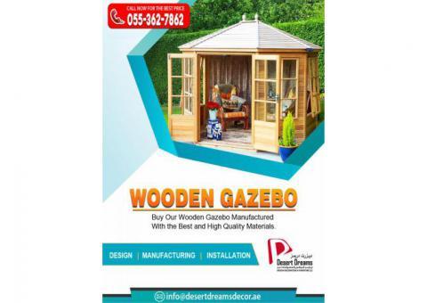 Supply and Install Wooden Gazebos in Dubai, Ajman, Abu Dhabi, Al Ain, UAE.