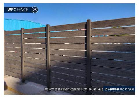 WPC Fence in Abu Dhabi   Picket Fence Abu Dhabi   Wooden Fence UAE