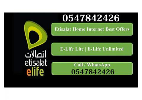 Etisalat Elife Basic home Internet Package 0547842426
