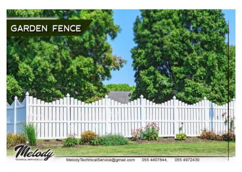 Garden Fencing In Dubai | Wooden Fence In Abu Dhabi | Fence Suppliers in UAE
