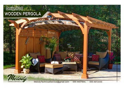 Wooden Pergola in Abu Dhabi | Pergola Suppliers | Pergola In Dubai