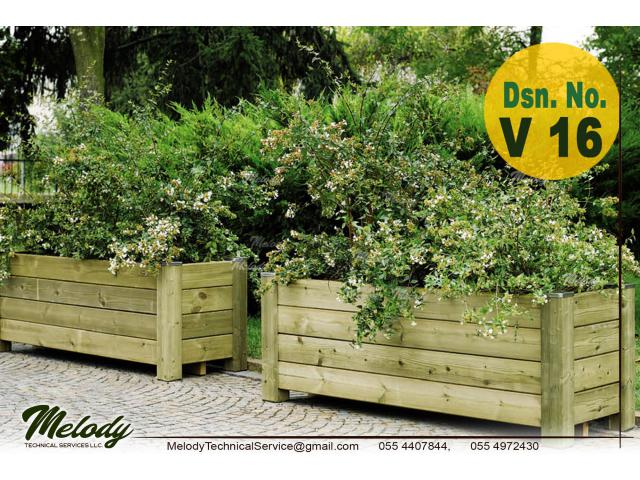 Garden Planters Box in Abu Dhabi | Wooden Planters Box In Abu Dhabi