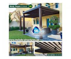 Garden Pergola in Dubai | Balcony Attached Pergola | Wooden Pergola in Dubai