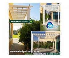 Garden Pergola in Dubai | Balcony Attached Pergola | Wooden Pergola in Dubai