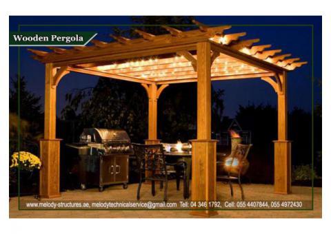 Wooden Pergola | Garden Area Pergola | BBQ Pergola in UAE