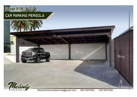 Wooden Car Parking Shade In Dubai | WPC Car Parking Shades in Dubai