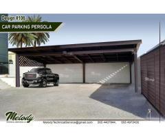 Wooden Car Parking Shade In Dubai | WPC Car Parking Shades in Dubai