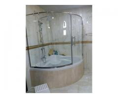 GYM MIRROR, SHOWER GLASS, GLASS PARTITION, ALUMINIUM WORKS 052-5569978