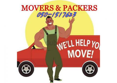 PROFESSIONAL HOUSE FURNITURE MOVERS AND PACKERS IN UAE 050-1517623