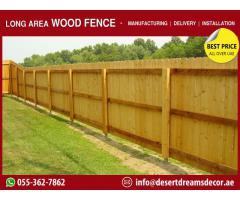 Nursery Wooden Fences Abu Dhabi | White Picket Fences | Garden Fencing Works Abu Dhabi.