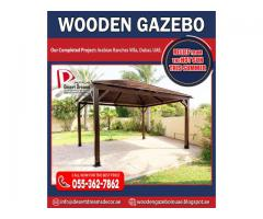 Supply and Install African Wood Gazebo | Malaysia Wood Gazebo | Pine Wood Gazebo in Uae.