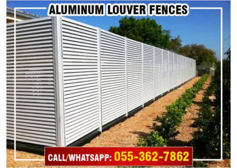 Supply and Install Aluminum Fences in Dubai, Abu Dhabi, Sharjah, Ajman, UAE.