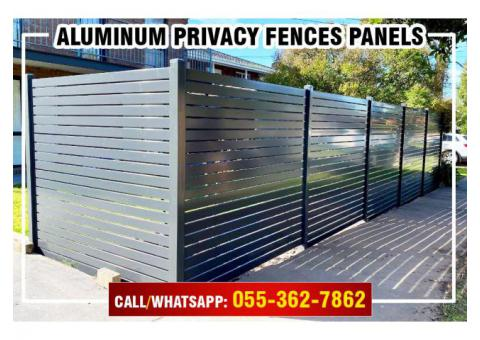 Aluminum Fences Uae | Aluminum Slatted Panels | Privacy Fences in Uae.