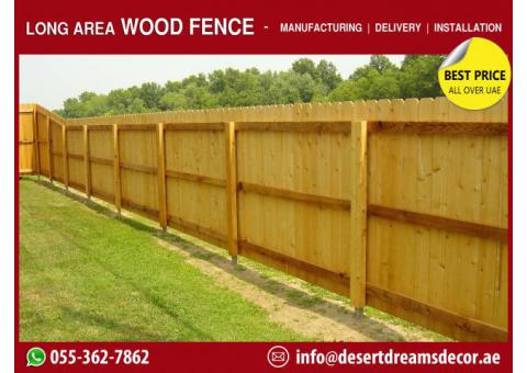 Garden Wooden Fencing Works in UAE | Nursery Kids Fences | Kids Play Fences.